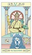 The Hierophant Tarot card in Luna Sol deck