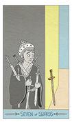 Seven of Swords Tarot card in Luna Sol deck