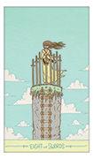Eight of Swords Tarot card in Luna Sol deck