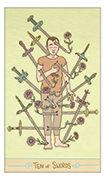 Ten of Swords Tarot card in Luna Sol deck