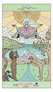 The Lovers Tarot card in Luna Sol deck