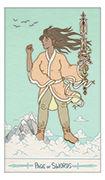 Page of Swords Tarot card in Luna Sol deck
