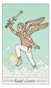 Knight of Swords Tarot card in Luna Sol deck