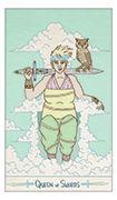 Queen of Swords Tarot card in Luna Sol deck