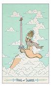 King of Swords Tarot card in Luna Sol deck