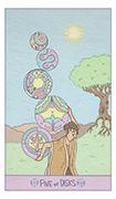 Five of Disks Tarot card in Luna Sol deck