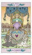 The Chariot Tarot card in Luna Sol deck