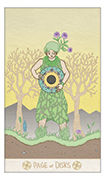 Page of Disks Tarot card in Luna Sol deck