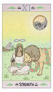 Strength Tarot card in Luna Sol deck