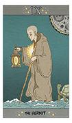 The Hermit Tarot card in Luna Sol deck