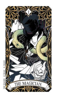 The Magician Tarot Card - Magic Manga Tarot Deck