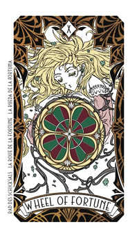 Wheel of Fortune Tarot Card - Magic Manga Tarot Deck
