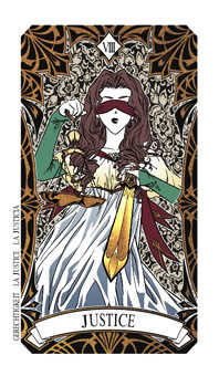 Justice Tarot Card - Magic Manga Tarot Deck
