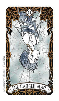The Hanged Man Tarot Card - Magic Manga Tarot Deck