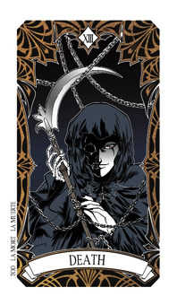 Death Tarot Card - Magic Manga Tarot Deck