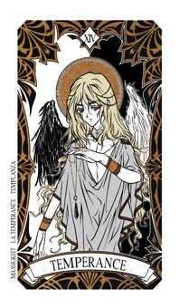 Temperance Tarot Card - Magic Manga Tarot Deck