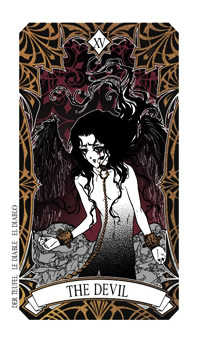 The Devil Tarot Card - Magic Manga Tarot Deck