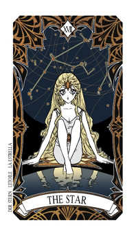 The Star Tarot Card - Magic Manga Tarot Deck