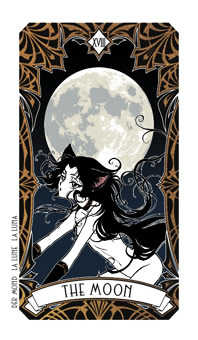 The Moon Tarot Card - Magic Manga Tarot Deck