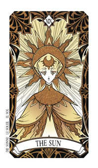 The Sun Tarot Card - Magic Manga Tarot Deck