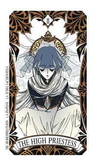 The High Priestess Tarot Card - Magic Manga Tarot Deck