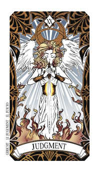 Judgment Tarot Card - Magic Manga Tarot Deck