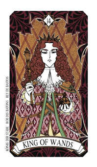 King of Staves Tarot Card - Magic Manga Tarot Deck