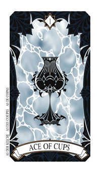 Ace of Cauldrons Tarot Card - Magic Manga Tarot Deck