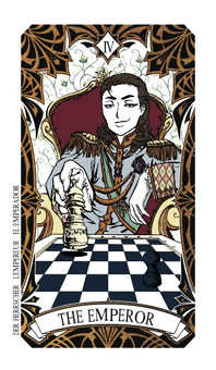 The Emperor Tarot Card - Magic Manga Tarot Deck
