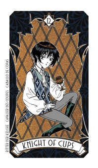 Knight of Water Tarot Card - Magic Manga Tarot Deck