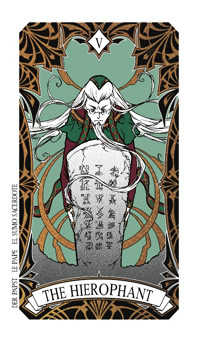 The Hierophant Tarot Card - Magic Manga Tarot Deck