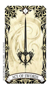 Ace of Swords Tarot Card - Magic Manga Tarot Deck