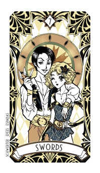 Seven of Swords Tarot Card - Magic Manga Tarot Deck