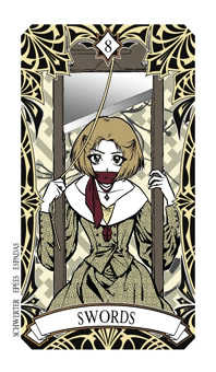 Eight of Swords Tarot Card - Magic Manga Tarot Deck