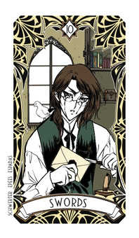 Ten of Spades Tarot Card - Magic Manga Tarot Deck