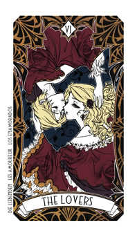 The Lovers Tarot Card - Magic Manga Tarot Deck