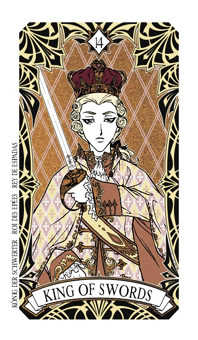 Roi of Swords Tarot Card - Magic Manga Tarot Deck