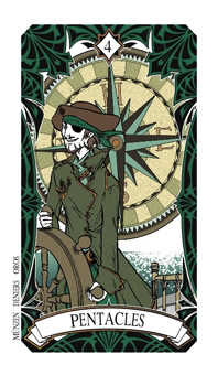 Four of Discs Tarot Card - Magic Manga Tarot Deck