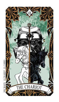 The Chariot Tarot Card - Magic Manga Tarot Deck