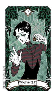 Seven of Diamonds Tarot Card - Magic Manga Tarot Deck