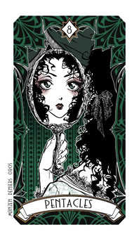 Eight of Diamonds Tarot Card - Magic Manga Tarot Deck