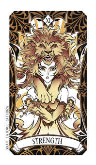 Strength Tarot Card - Magic Manga Tarot Deck