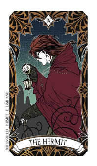 The Hermit Tarot Card - Magic Manga Tarot Deck