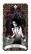 The Devil Tarot card in Magic Manga Tarot deck