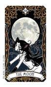 The Moon Tarot card in Magic Manga deck