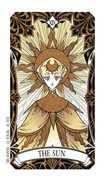 The Sun Tarot card in Magic Manga Tarot deck