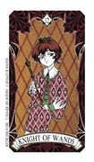 Knight of Wands Tarot card in Magic Manga deck