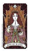 King of Wands Tarot card in Magic Manga deck