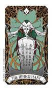 The Hierophant Tarot card in Magic Manga Tarot deck