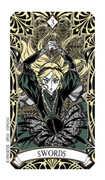 Three of Swords Tarot card in Magic Manga deck